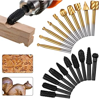 5Pcs Wood Carving And Engraving Drill Bit Woodworking Carving Tools