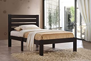 Major-Q Traditional Espresso Finish Wood Frame Full Bed for Bedroom (7021083F)