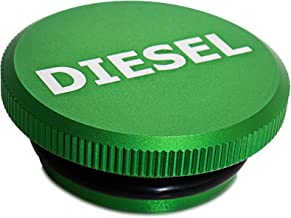 Diesel Fuel Cap - Billet Tank Gas Cap for 13-19 Dodge Ram 1500 2500 3500 Cummins EcoDiesel Pick-up Truck Accessories - Best for Genuine OEM Parts Replacement Eco Tanks Caps - Magnetic Aluminum Green