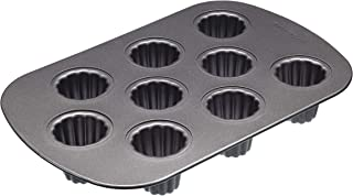 MasterClass Canele Moulds with PFOA Free Non Stick, Robust 1 mm Carbon Steel, 9 Hole 32.5 x 22 cm Baking Tin