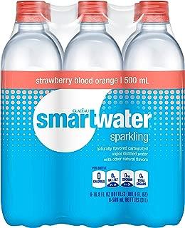 Smartwater Sparkling smartwater sparkling strawberry blood orange, 500mL, 6 Pack, 16.9 fl. oz. (Pack of 6)