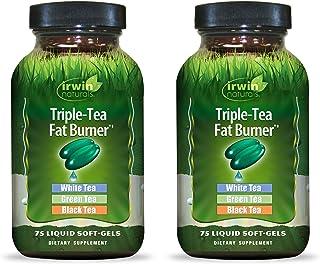 Irwin Naturals Triple-Tea Fat Burner - White, Green & Black Tea - Antioxidant Rich Metabolism Booster - 75 Liquid Softgels...