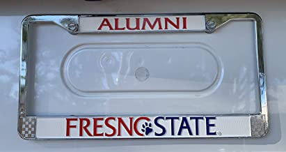 Fresno State Alumni Chrome Metal License Plate Frame