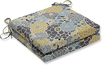 Pillow Perfect Outdoor/Indoor Lois Vapor Squared Corners Seat Cushion 20x20x3 (Set of 2)