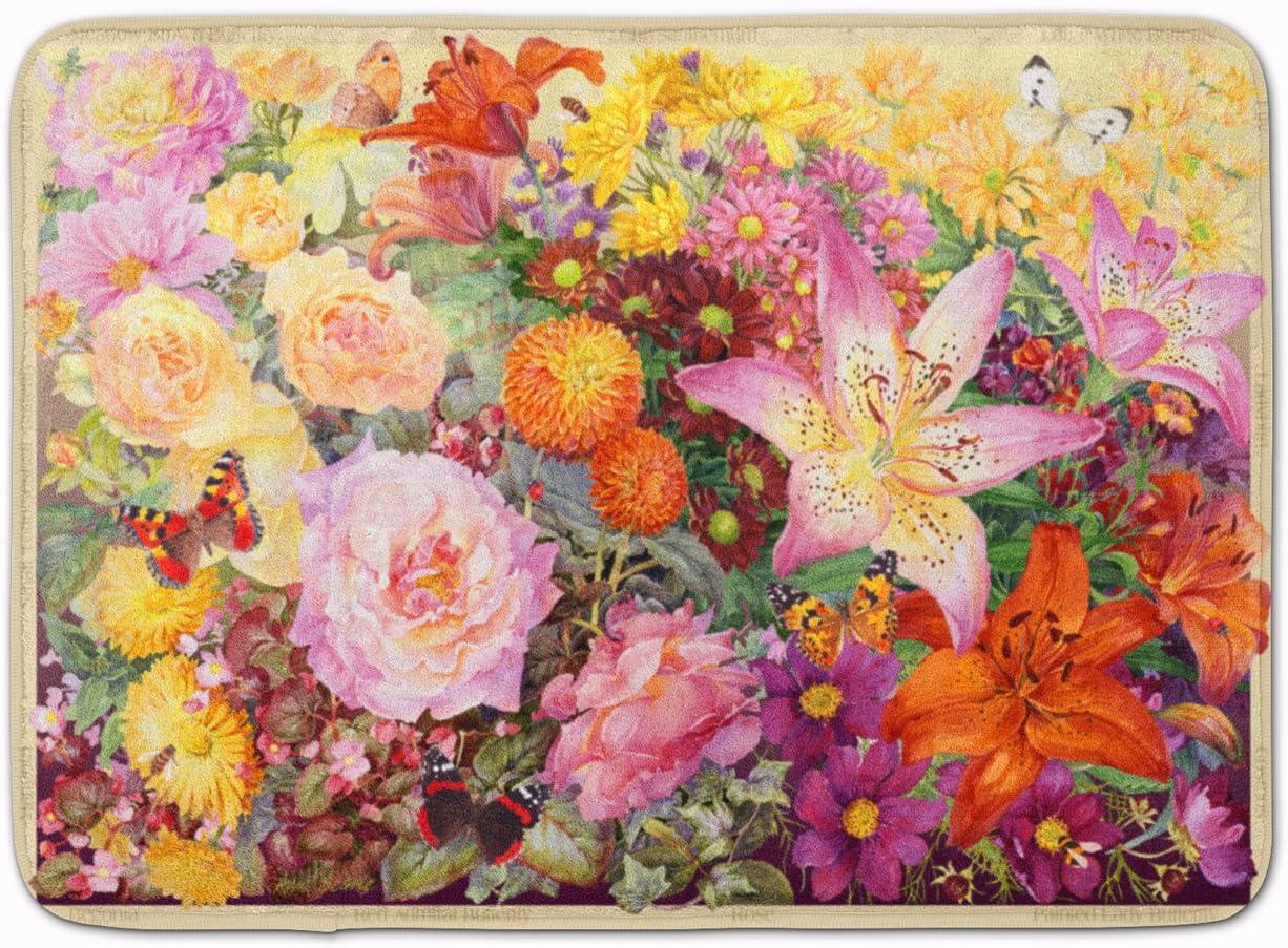 Caroline's Treasures SASE0955RUG Autumn Floral 大規模セール Anne Ma by 新作多数 Searle