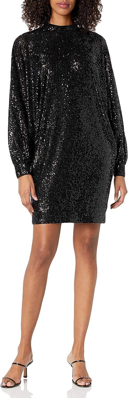 Trina Turk Women's Mock Neck Sequin Dress