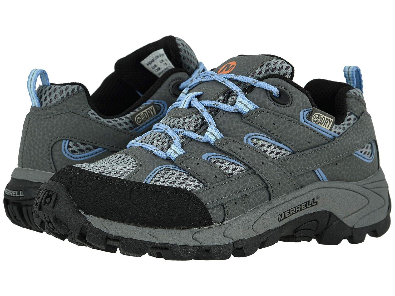 富豚肉上級[メレル] キッズスニーカー?カジュアルシューズ?靴 Moab 2 Low Lace Waterproof (Little Kid/Big Kid) Grey/Periwinkle 2 Little Kid (20.5cm) W [並行輸入品]