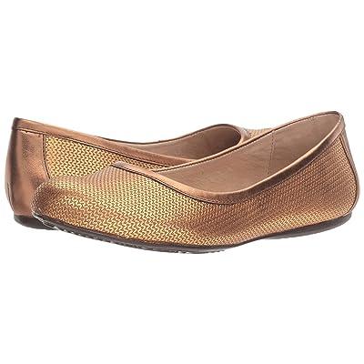 SoftWalk Napa (Bronze Metallic Herringbone Embossed Leather) Women