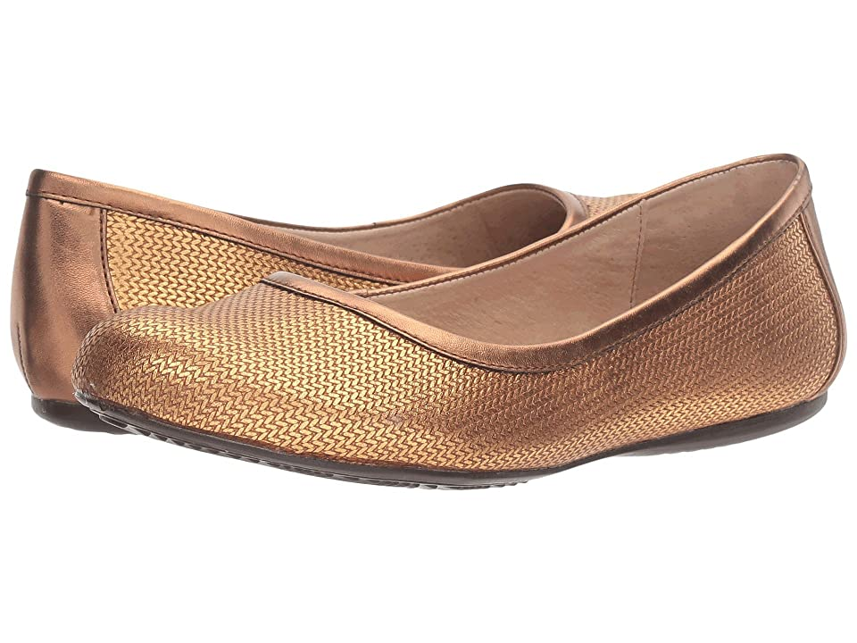 SoftWalk Napa (Bronze Metallic Herringbone Embossed Leather) Women