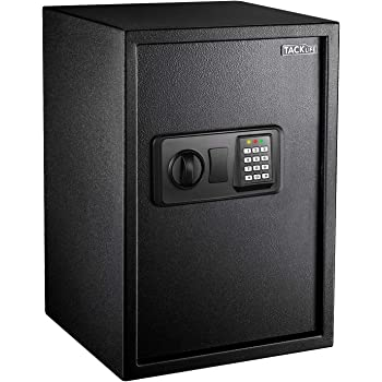 TACKLIFE 1.8 Cubic Feet Home Safe Large Electronic Digital Safe with Instruction Light for Money Safe Cash Jewelry Passport Gun Security-50SA