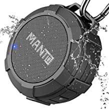 Bluetooth Speaker MANTO Cuckoo Portable Wireless Mini Waterproof Stereo Sound System for Shower, Outdoor Hiking, Camping, ...