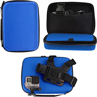 Navitech Blue Heavy Duty Rugged Hard Case/Cover Compatible With The Kaiser Baas X4 Action Camera
