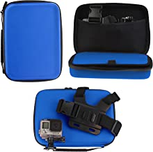 Navitech Blue Heavy Duty Rugged Hard Case/Cover Compatible With The Kitvision Escape HD5