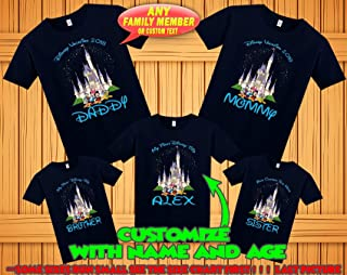 0f69f8bc4d Disney family matching custom t-shirts, Family vacation disney shirts, custom  Personalized disney