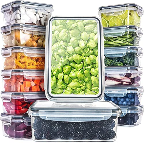 popular Fullstar (14 Pack) Food Storage Containers discount with outlet online sale Lids - Plastic Food Containers with Lids - Plastic Containers with Lids BPA-Free - Leftover Food Containers - Airtight Leak Proof Food Container outlet sale