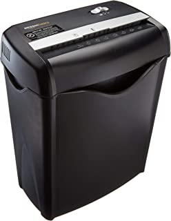 Amazon Basics 6-Sheet Cross-Cut Paper and Credit Card Shredder (Renewed)