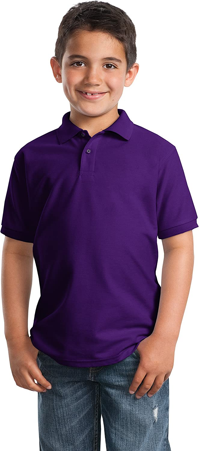 Port Authority Little Boys' Silk Touch Polo T-Shirt XS 4 Years Purple