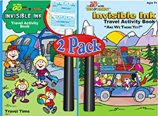 Lee Publications Invisible Ink On The Go Activity and Game Books (2 Pack)