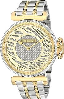 ROBERTO CAVALLI Women's Swiss Quartz Watch with Stainless Steel Strap, Gold, 18 (Model: RV1L056M0076)