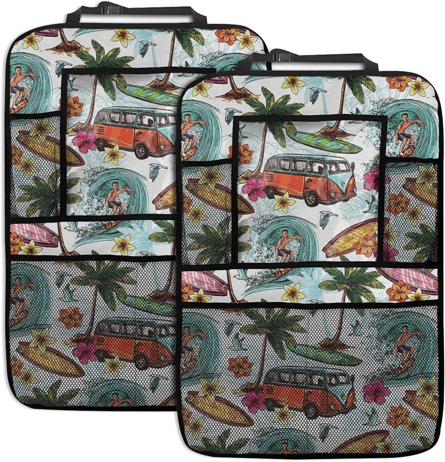 Car Backseat Organizer Popular popular Hawaiian Surf Excellent Print Seat Summer Back