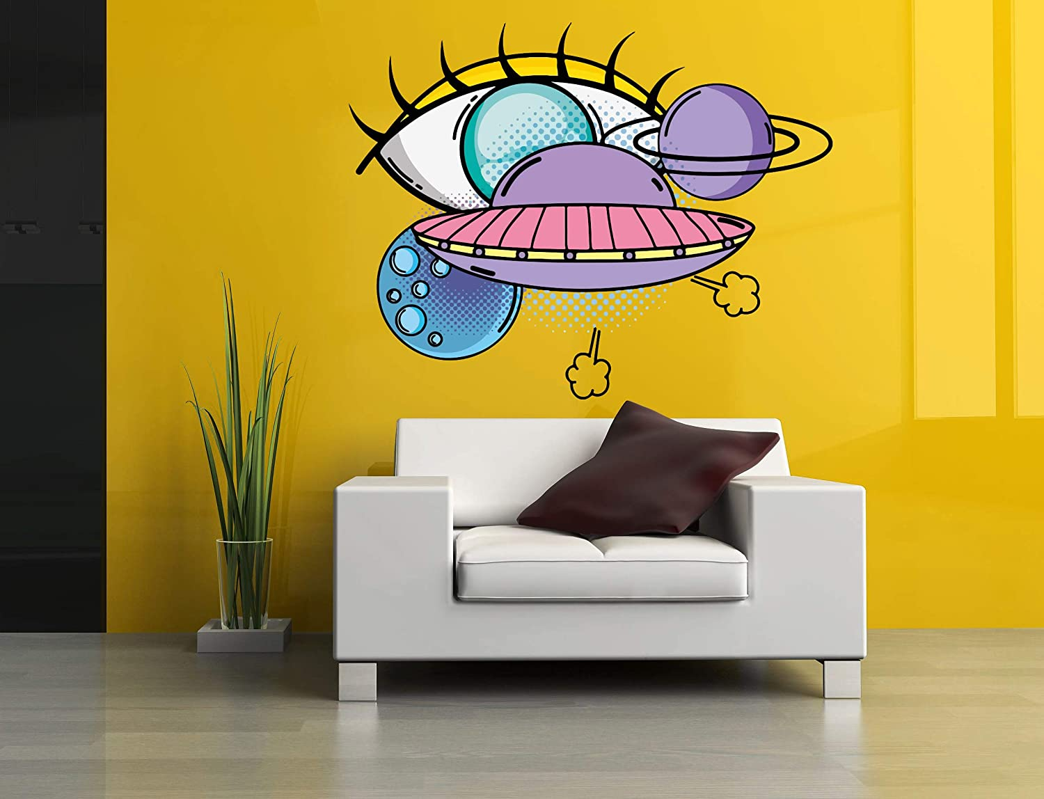 Saturn Planet Space UFO Eye Wall Car Mural OFFer Vinyl A Decal Sale Special Price Sticker