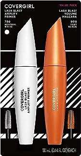 Covergirl LashBlast Volume Mascara and Lash Blast Amplify Eyelash Primer, Very Black, Value Pack