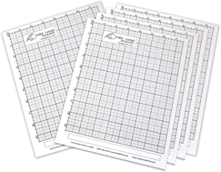 5 x Grid Type Lettersize 'Freehand Designer' Sheets. Draw Perfect Straight Lines Templates. Grid Type Sheets for Scale Drawings