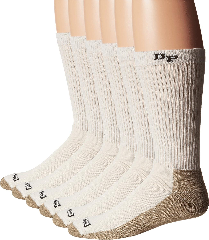Dan Post mens Dan Post Work & Outdoor Socks Mid Calf Mediumweight Steel Toe 6 Pack