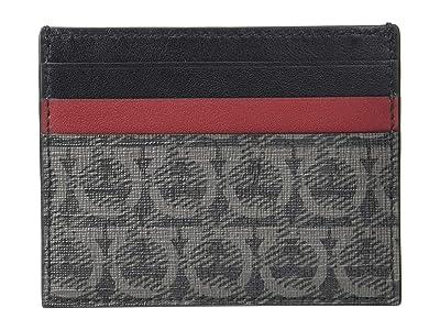Salvatore Ferragamo Travel Card Holder 66A501 (Black/Grey) Handbags