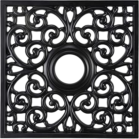 Aspen Creative 20300 18 Wide Square Ceiling Medallion Black Amazon Com