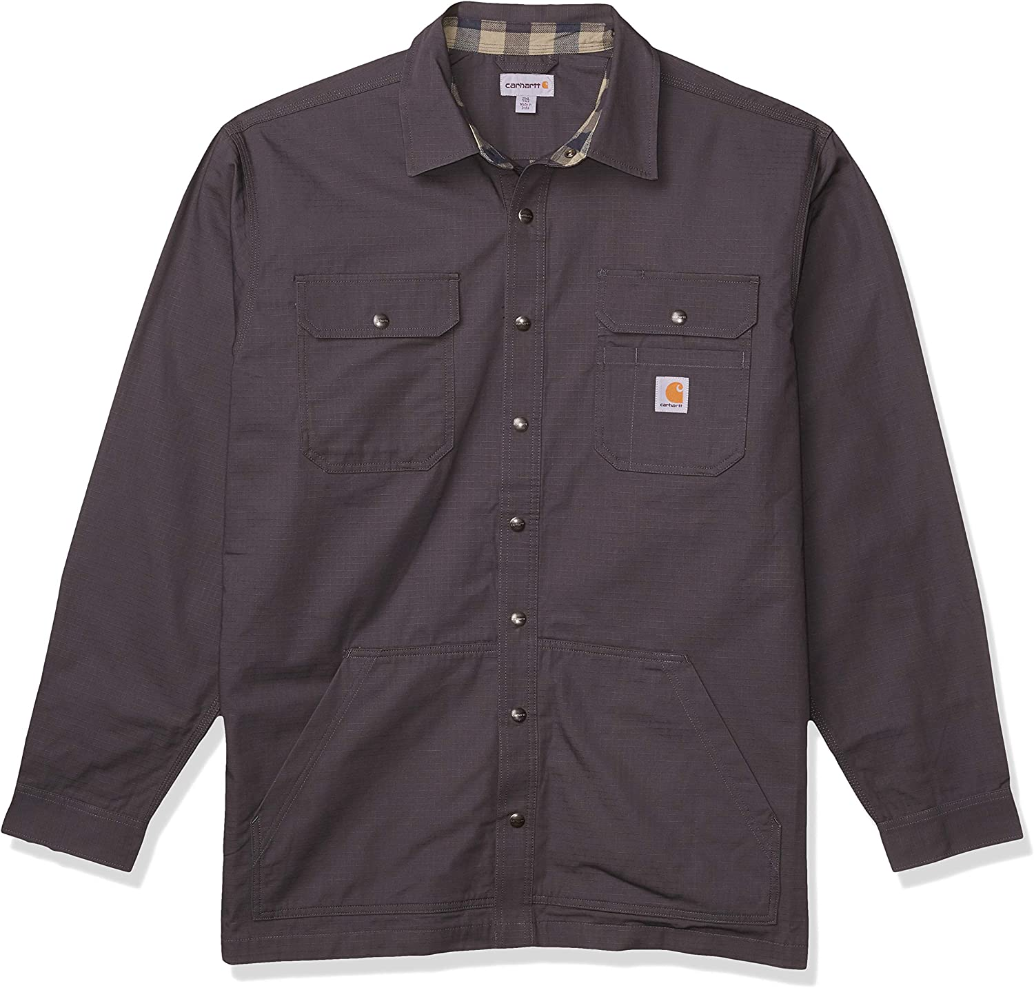 Carhartt Men's Loose New sales Ranking TOP18 Fit Flannel-Lined Shirt Ripstop Snap-Front
