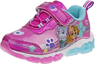 Nickelodeon Paw Patrol Girls Light Up Lightweight Sneakers (Toddler/Little Kid), Pink/Blue Everest, Size 11 Little Kid'