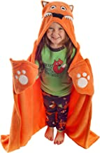 Fox Blanket Childrens Hooded Animal Critter Blankets by LazyOne | Childrens Dress Up Large Travel Blanket (ONE Size)