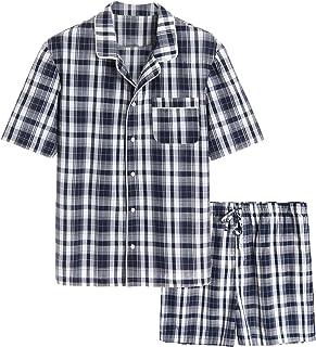 ست خواب لباس خواب کوتاه نخی پارچه ای مردانه Latuza