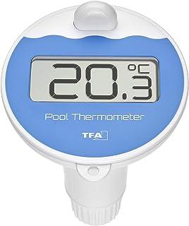 TFA Dostmann Émetteur piscine, avec affichage de la température de l'eau, noir, L 97 x l 105 x H 168mm