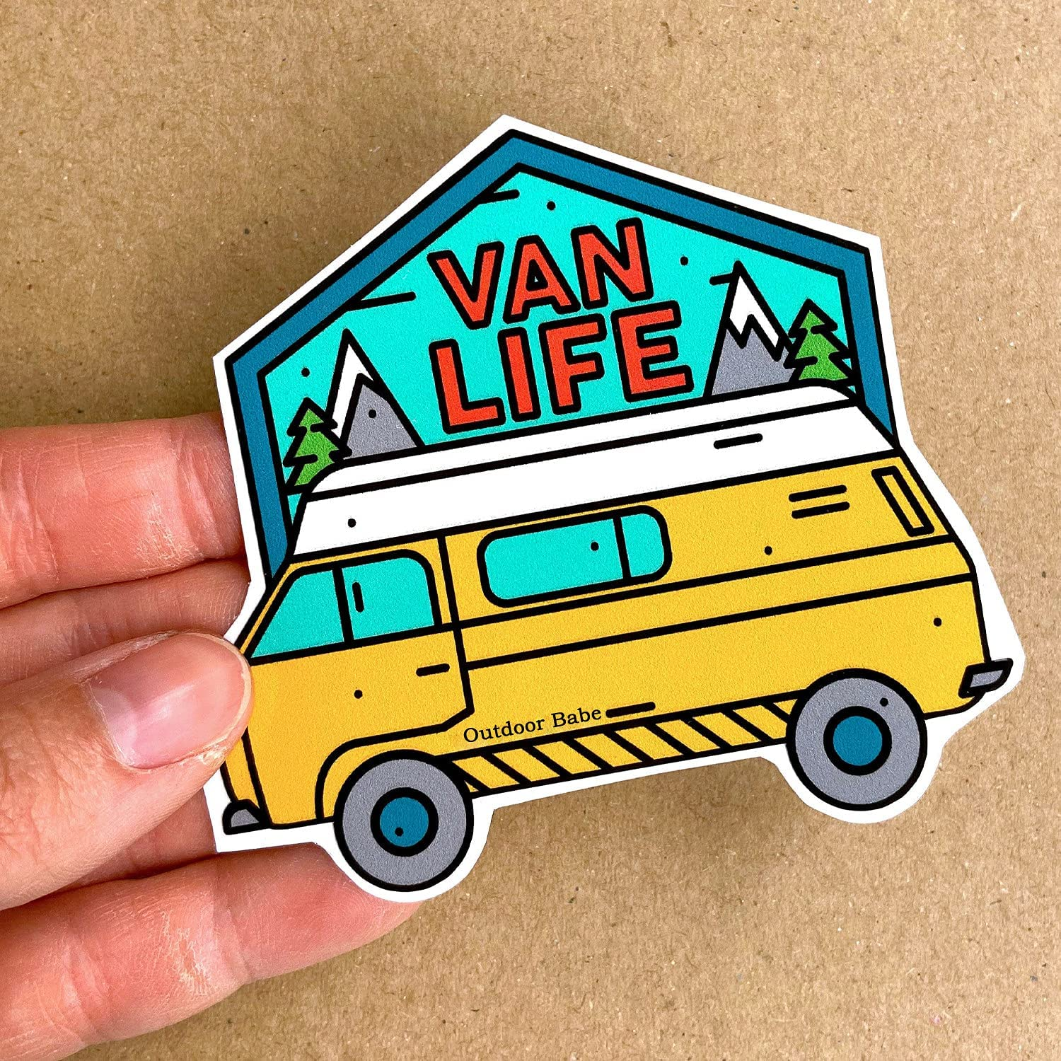 High quality Outlet ☆ Free Shipping new Van Life Vinyl Sticker Pcs 10