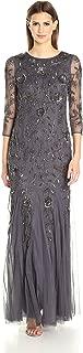 Women's L/s Beaded Mermaid Long Gown
