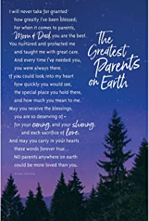 Dexsa 5957 6 x 9 in. The Greatest Parents on Earth Organic Brights Wood Plaque with Easel