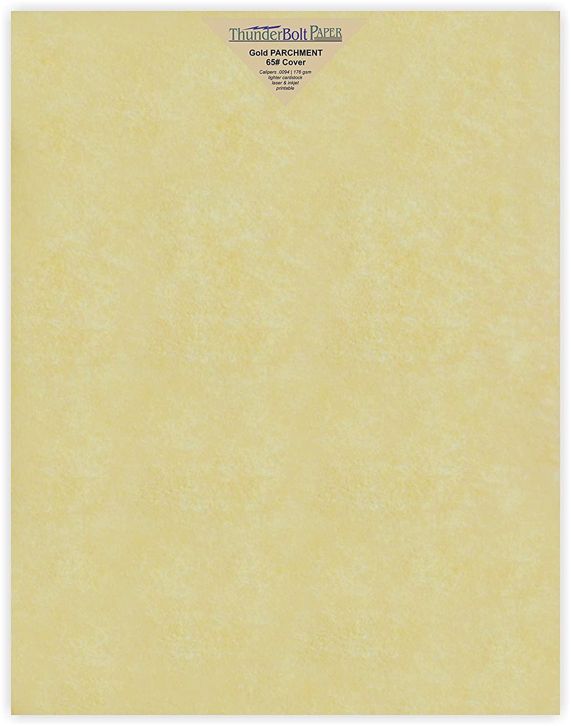 25 Gold Parchment 65lb Cover Weight Paper - 11