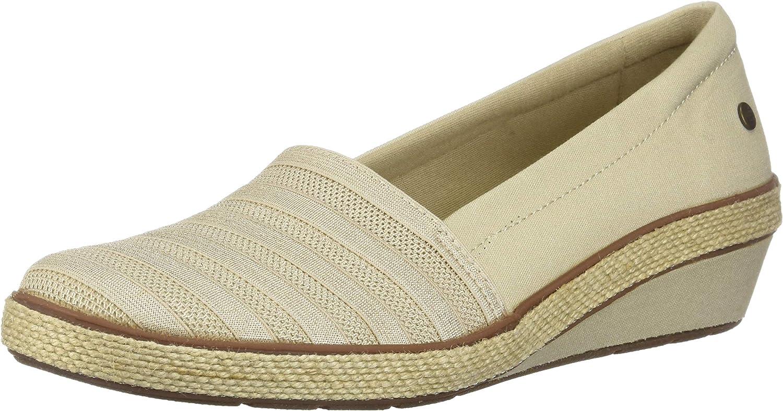 Grasshoppers Women's Blaise Wedge Canvas Stripe Gore shoes