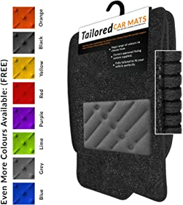 Car Mats Fit Tipo  2016   Anthracite Tailored Car Mats with Grey Trim  amp  Grey Double Thickness Rectangle Heel Pad