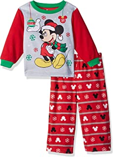 Disney Boys' Mickey Mouse 2-Piece Fleece Pajama Set