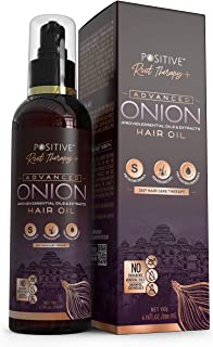 Positive Root Therapy + Advanced Onion Oil For Hair Growth | Blend Of Multiple Essential Oils & Herbs, 200 ml