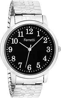 Ferretti Unisex | Classic Expansion Bracelet Big Number Watch | FT161