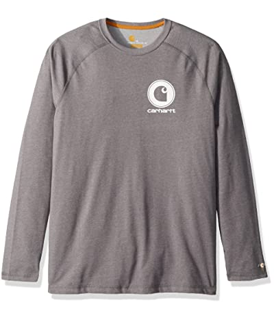 Carhartt Big Tall Force Cotton Delmont Long Sleeve Graphic T Shirt