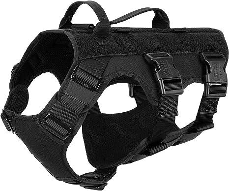 ICEFANG GN6 Patrol Tactical Dog Harness 5-Points Adjustable K9 Walking Training Vest   Amazon