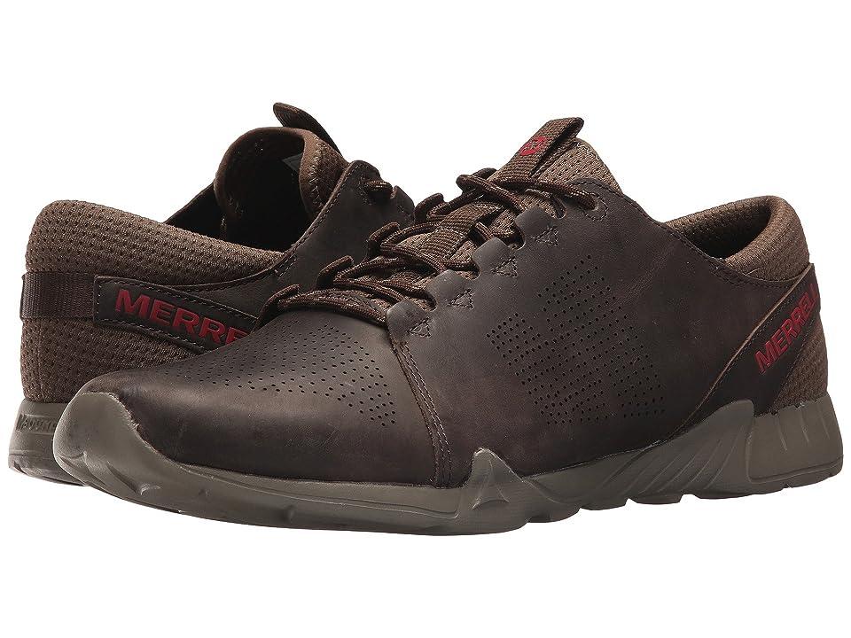 Merrell Versent Kavari Lace Leather (Dark Brown) Men