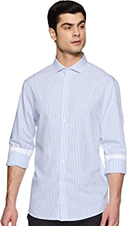 Celio Mens Slim Collar Stripe Formal Shirt