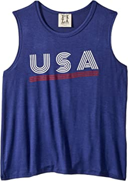 USA Line Tank Top (Big Kids)