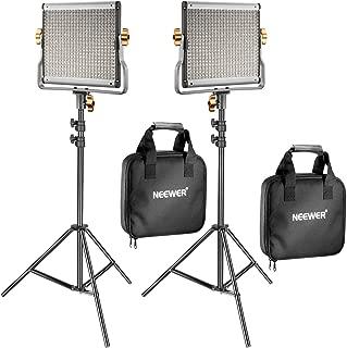 Neewer 2 Pack Regulable Bi-Color 480 LED de Luz de Vídeo y